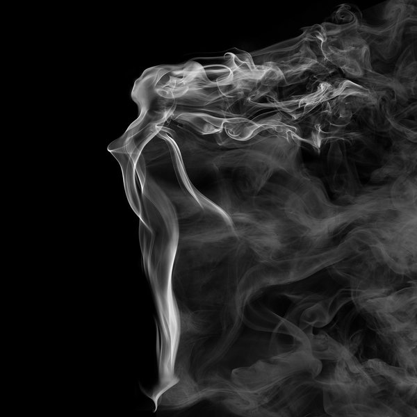 A digital composition from dozen or so images selected out of about ten thousand incense and vapor images. thumbnail