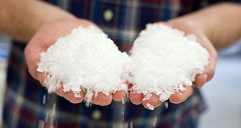 Ben Jacobsen showing off his beloved flake salt
