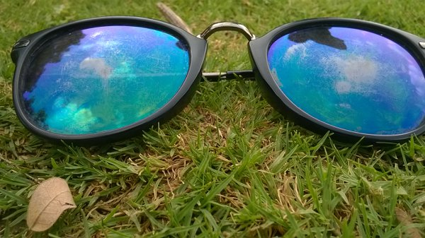 Sky view through sunglasses thumbnail