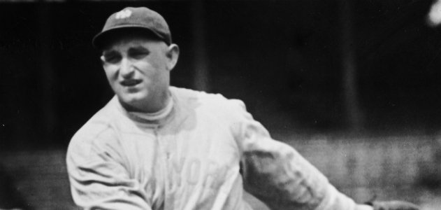 Carl Mays, pitcher for the 1920 New York Yankees