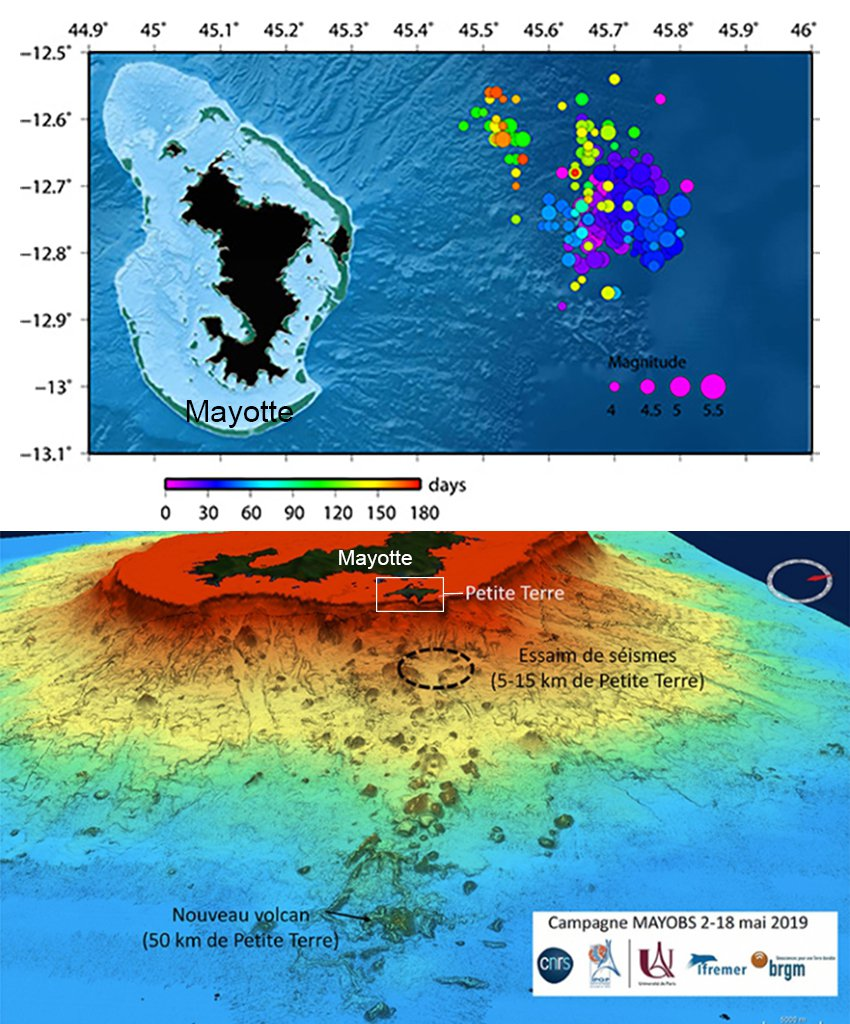 Underwater Eruption Off France's Mayotte Island Gave Rise to a New Colossal Seamount
