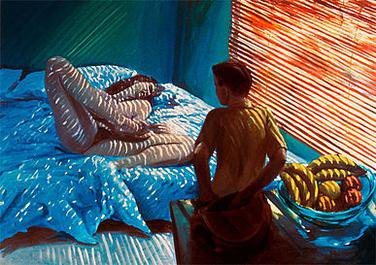 """""""Bad Boy"""", oil on linen, 66 inches x 96 inches by Eric Fischl"""