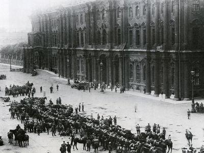 Winter Palace, Saint Petersburg, Russia, in 1917