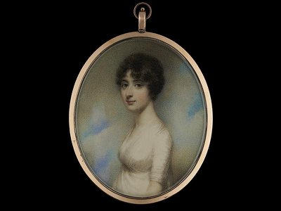 1796 portrait miniature of Mary Pearson by William Wood