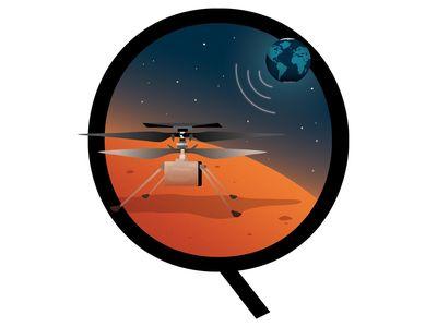 NASA's Ingenuity helicopter arrived on Mars on February 18, 2021.