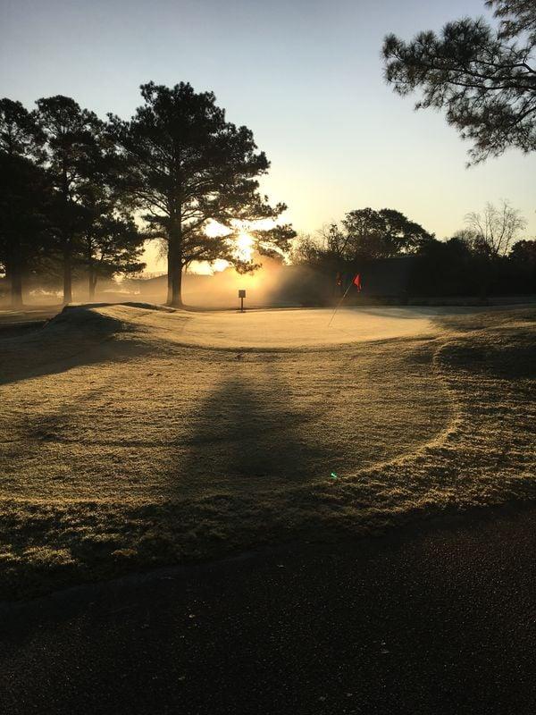 Golf course at dawn thumbnail