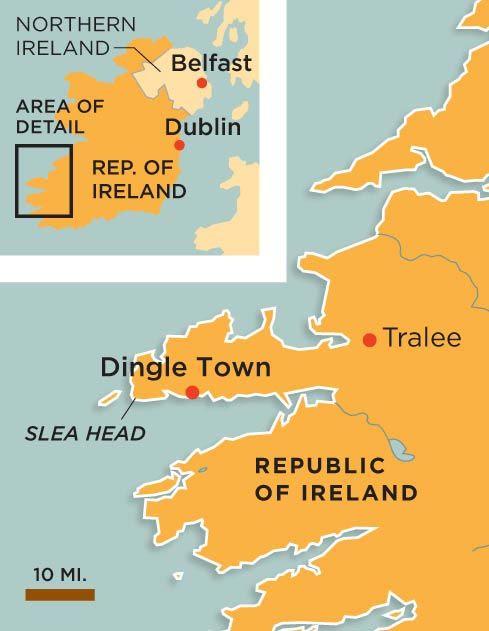 Dingle Ireland map
