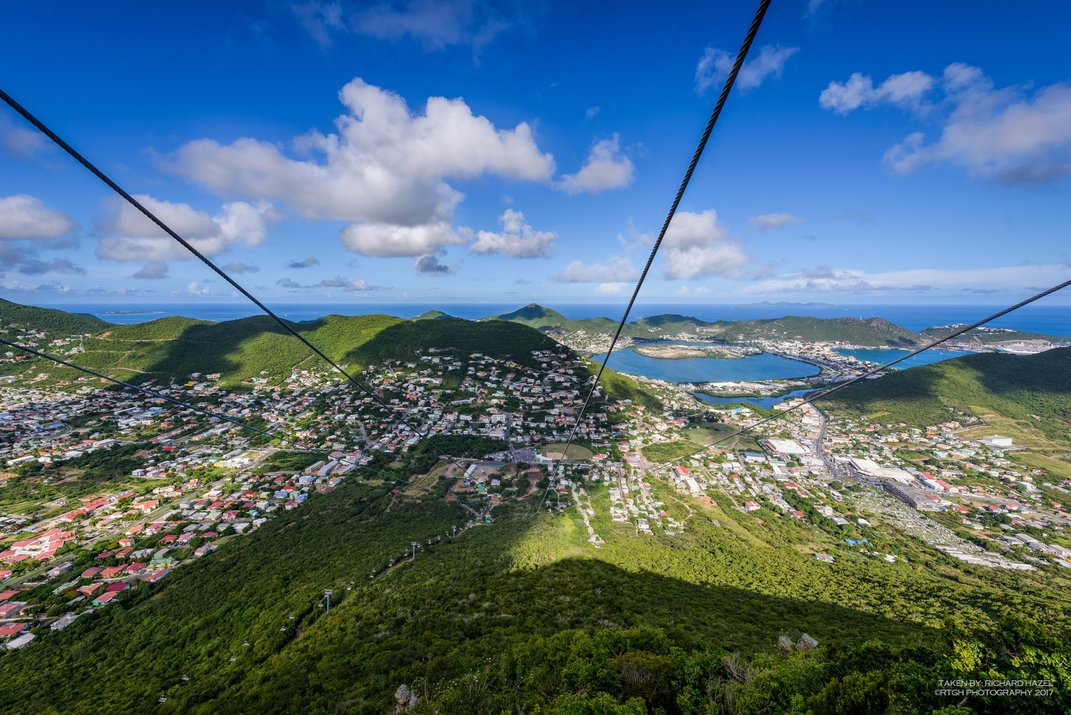 The World's Steepest Zip Line Offers Breathtaking Views Over St. Martin