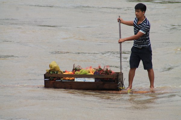 Fruit Seller, Li River, China thumbnail