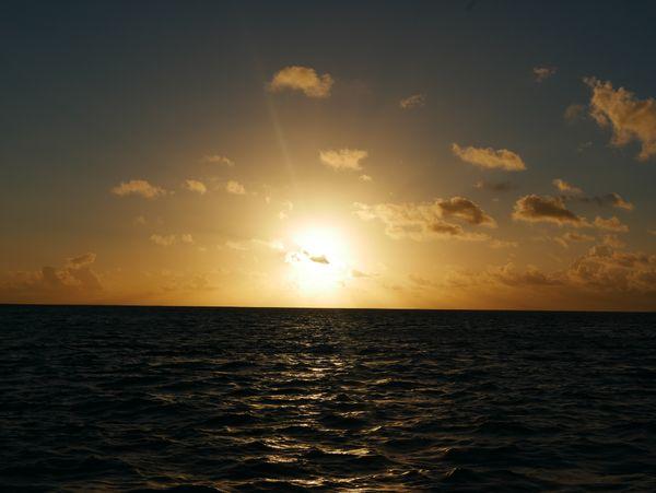 Sunset over the lagoon thumbnail