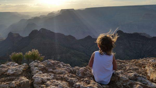 Daughter at Grand Canyon National Park thumbnail