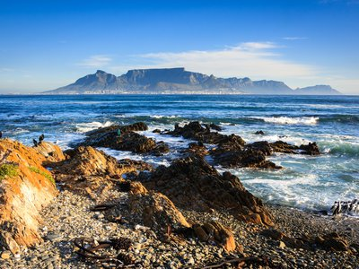 The view of Cape Town from Robben Island, the brutal prison where Nelson Mandela was held for 18 of his 27 years as a political prisoner. Mandela would have turned 100 this July.