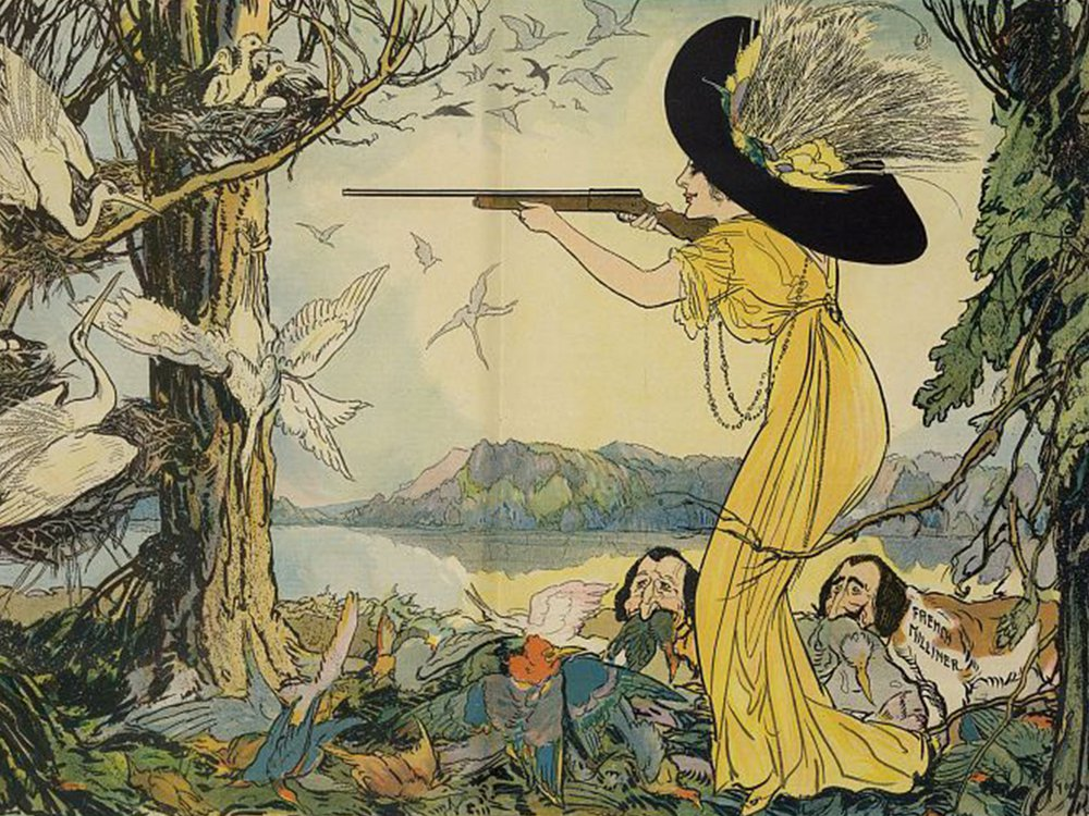 The woman behind the gun