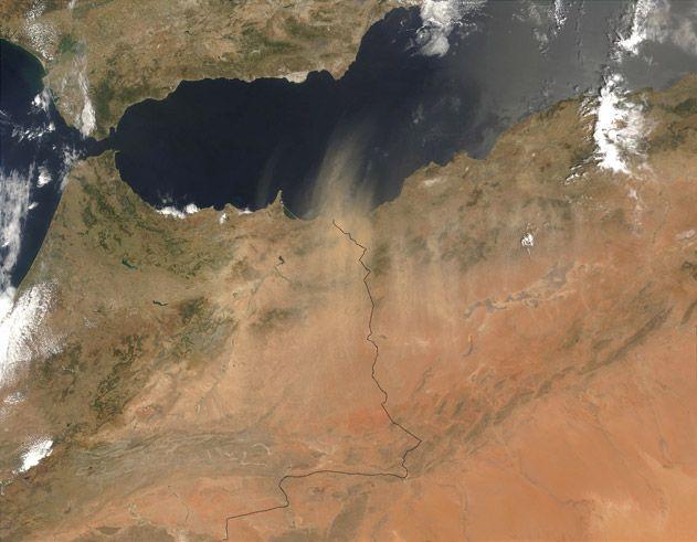 Dust Blows Off the Sahara
