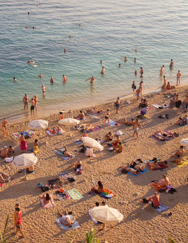 Crowded Beach in the Summer thumbnail
