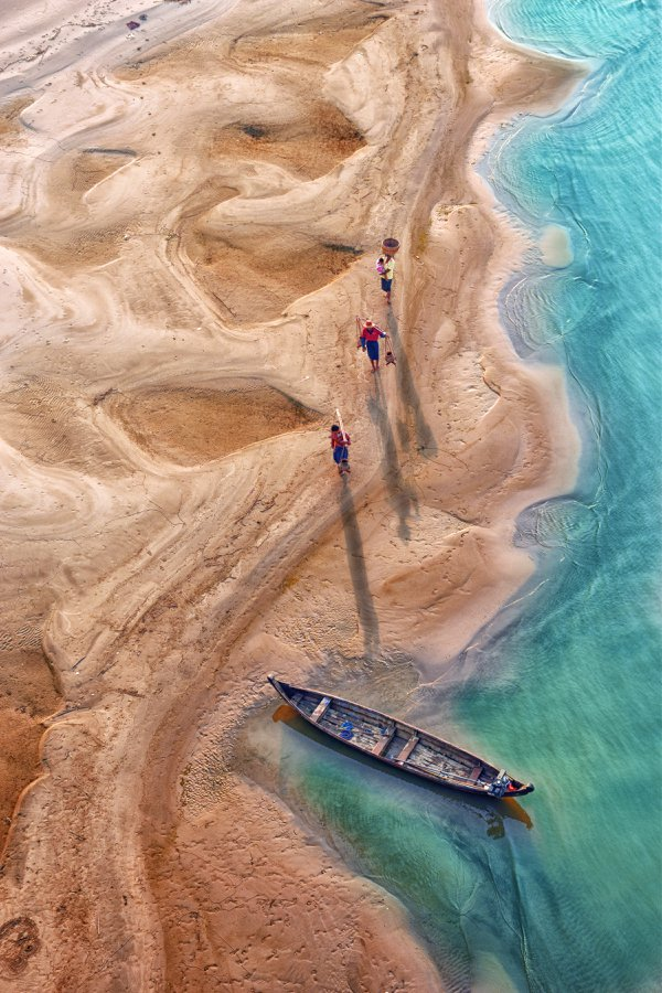 Their Family are going to work from home, through the sandbank