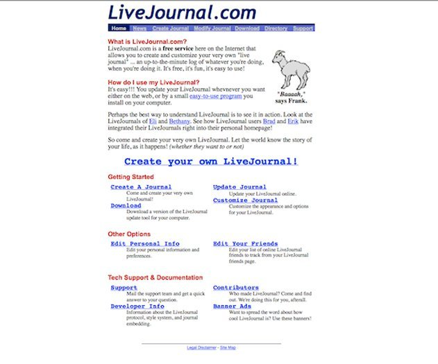LiveJournal homepage