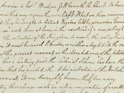 """""""America is lost!"""" wrote George III."""
