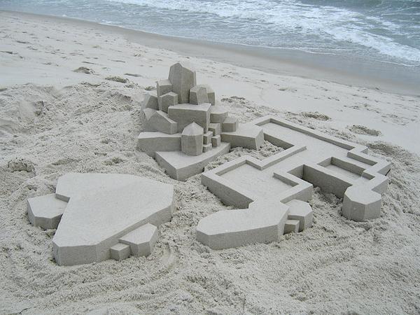 Amazing Modernist Sandcastles Sculpted by Calvin Seibert