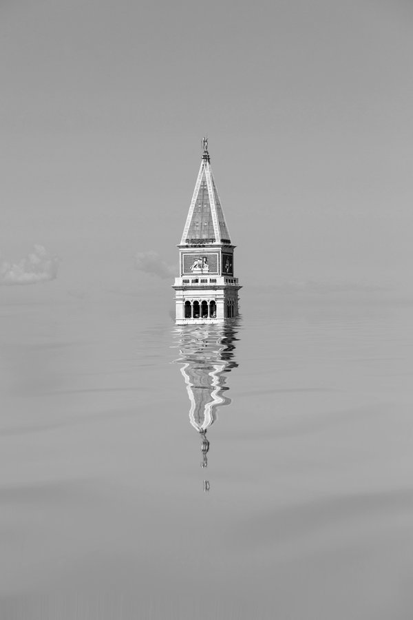 Torre dell'Orologio, Venice, Italy, under 200 feet of water. AFTER THE ICE SERIES 2019-2020 thumbnail
