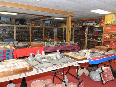 Artifacts on display at Don Miller's farm in 2014. For more than seven decades, Miller unearthed cultural artifacts from North America, South America, Asia, the Caribbean, and in Indo-Pacific regions such as Papua New Guinea.