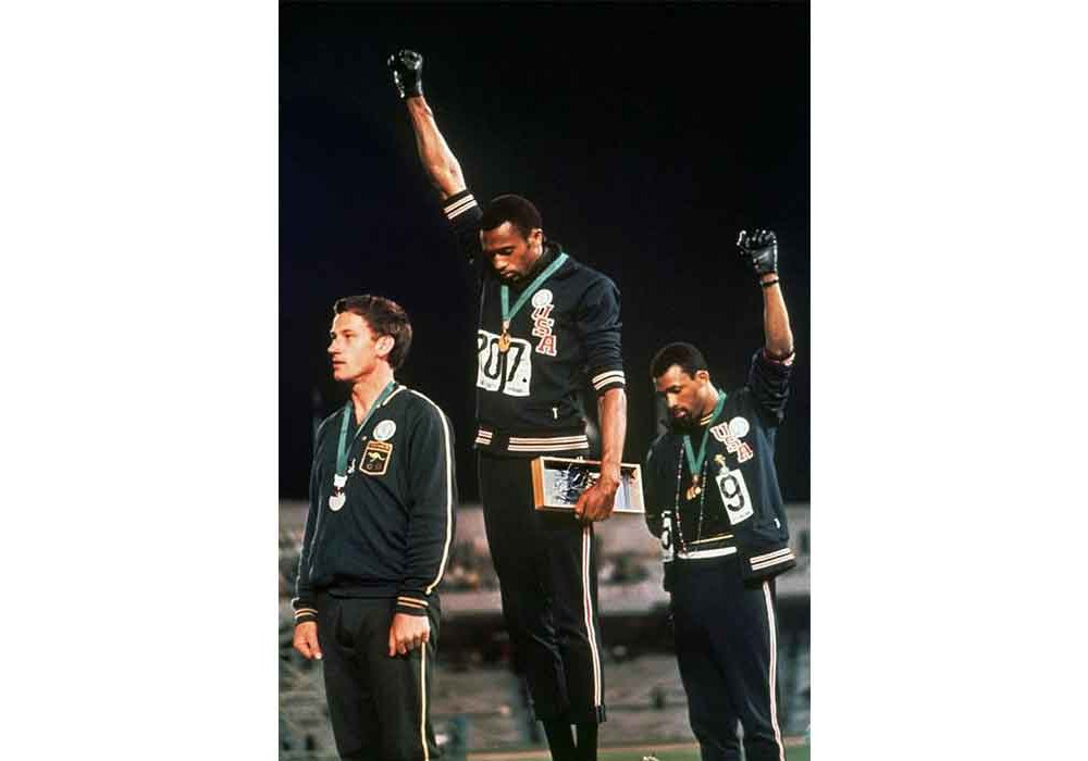 Tommie Smith at the 1968 Olympics