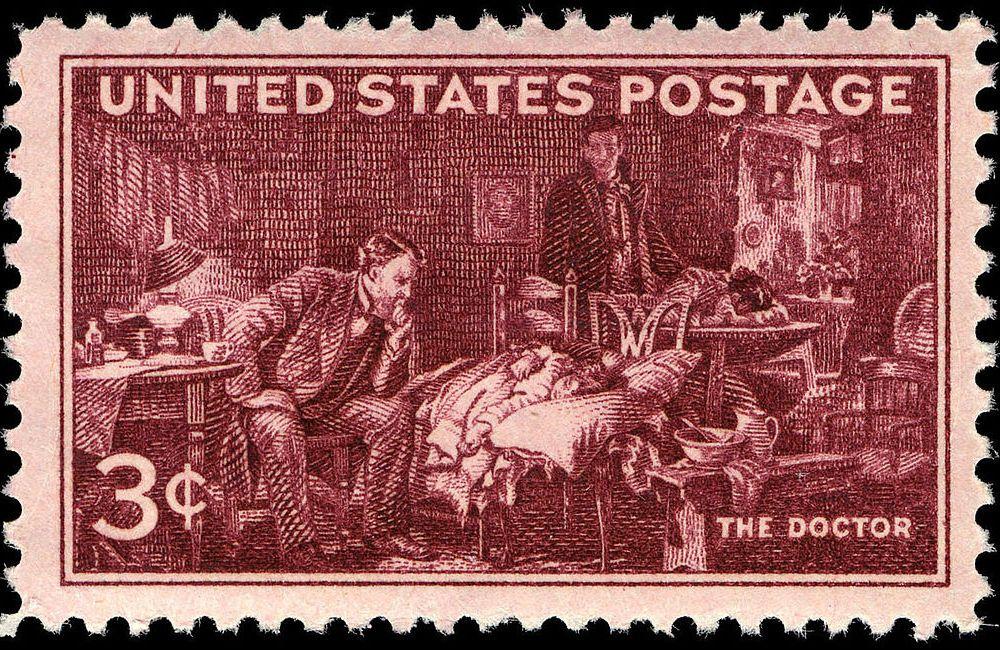 Doctors AMA Centennial 3-cent