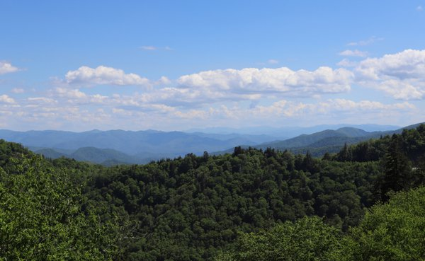 View of Newfound Gap in Smoky Mountain National Park thumbnail