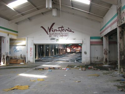 Belz Factory Outlet Mall, an abandoned shopping mall in Allen, Texas, United States.
