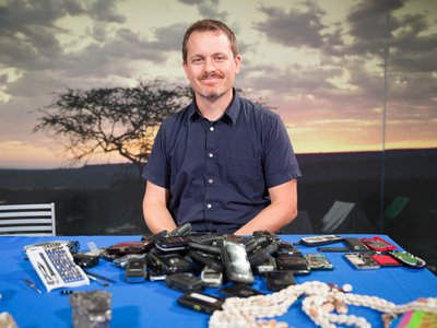 Joshua Bell is the curator of globalization at the Smithsonian's National Museum of Natural History. He is working on a new exhibit about the global history of cellphones. (Smithsonian)