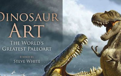 The cover of Dinosaur Art: The World's Greatest Paleoart. This book is set to debut in September, 2012.