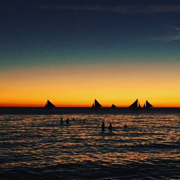 Sunset at Boracay beach  in the Philippines  thumbnail