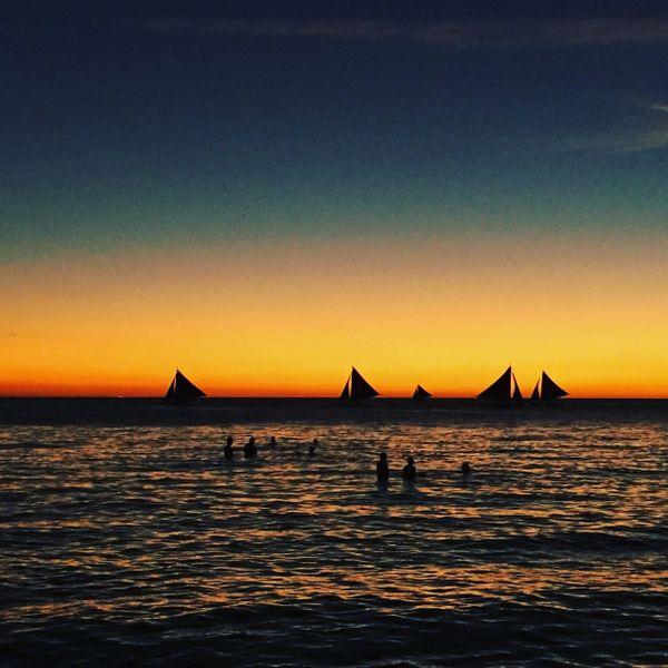 Sunset at Boracay beach  in the Philippines  thumbnail