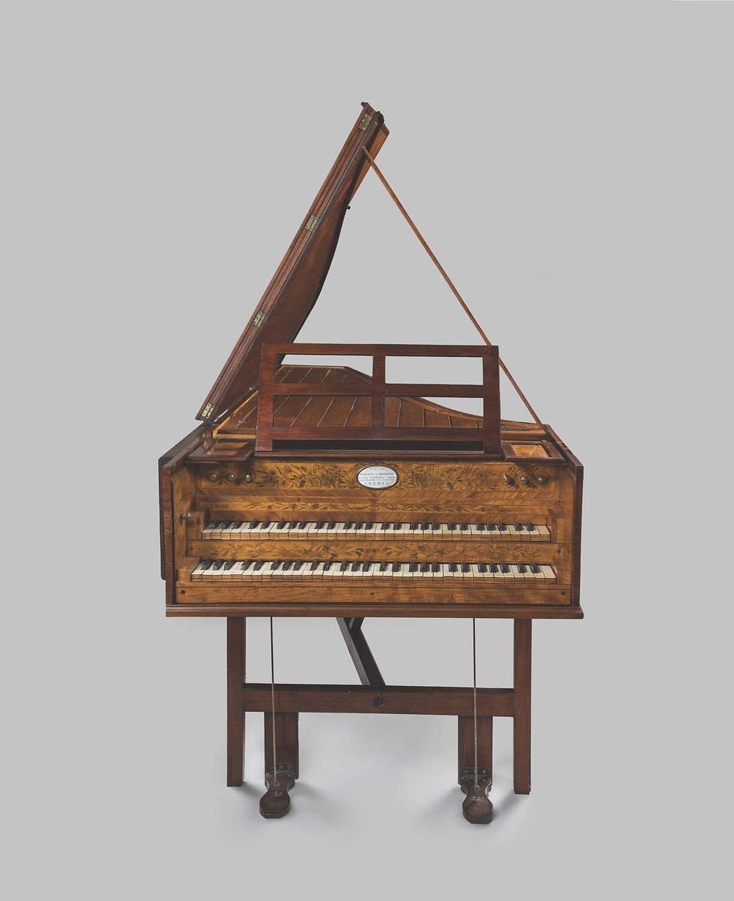 5-octave, two-manual harpsichord, purchased by President Washington for the use of Nelly Parke Custis in the President's House in Philadelphia, collection of Mount Vernon.