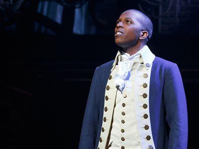 """Leslie Odom Jr. as Aaron Burr in """"Hamilton"""""""