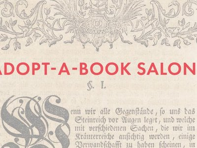 Smithsonian Libraries and Archives invites you to a series of four Adopt-a-Book Salons in March and April.