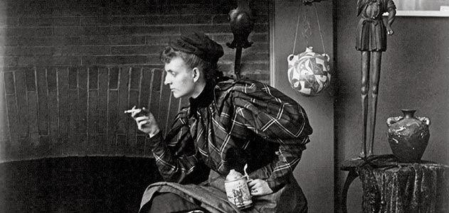 Frances Benjamin Johnston self portrait