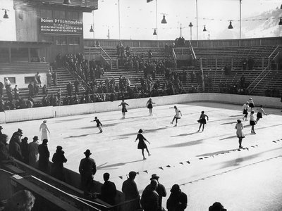Figure skating at the Olympic winter games in Garmisch-Partenkirchen, 1936