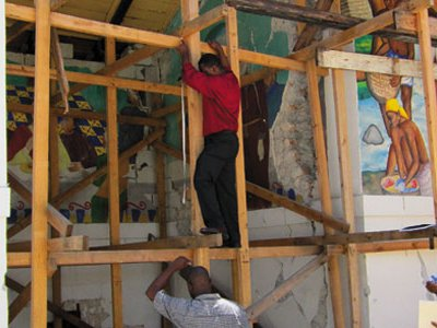Smithsonian conservators are helping to save the murals at Holy Trinity Cathedral.