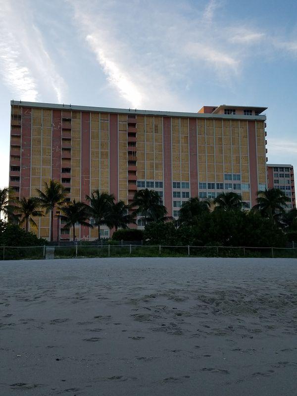 Condominium boarded up on Miami Beach thumbnail