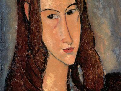 """Amedeo Modigliani, """"Jeanne Hébuterne,"""" 1918"""