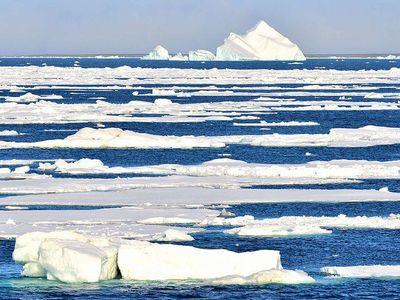 Satellite records show a 13 percent decrease in sea ice per decade since the 1980s.