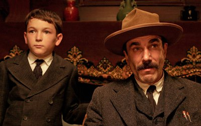 Dillon Freasier, left, and Daniel Day-Lewis as H.W. and Daniel Plainfield Paul Thomas Anderson's There Will Be Blood.