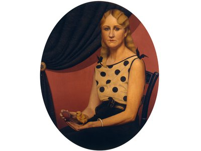 In Portrait of Nan, Wood highlighted his sister's femininity.