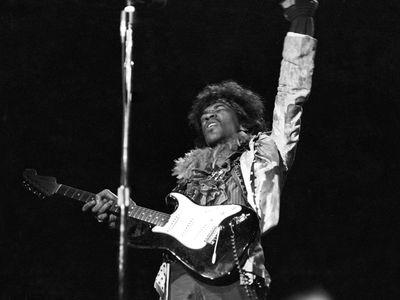 Jimi Hendrix, 24, in his breakout set at Monterey in 1967.