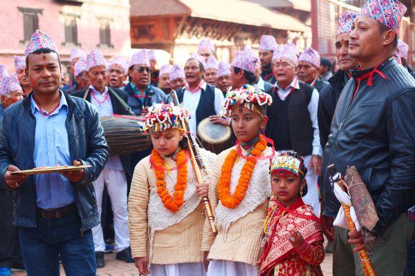Living  Goddess Kumari- Nepali small girl thumbnail