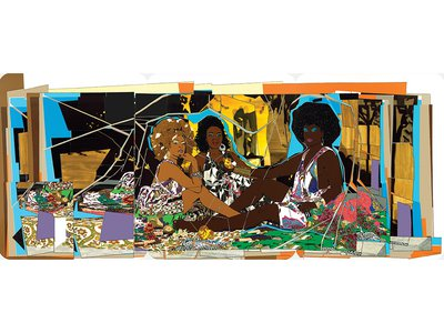 In a survey of art experts, Thomas' 2010 collage was named one of the most significant artworks of the 21st century.