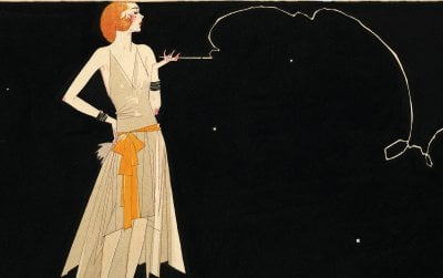 """""""Where there's smoke there's fire"""" by Russell Patterson, 1920s"""