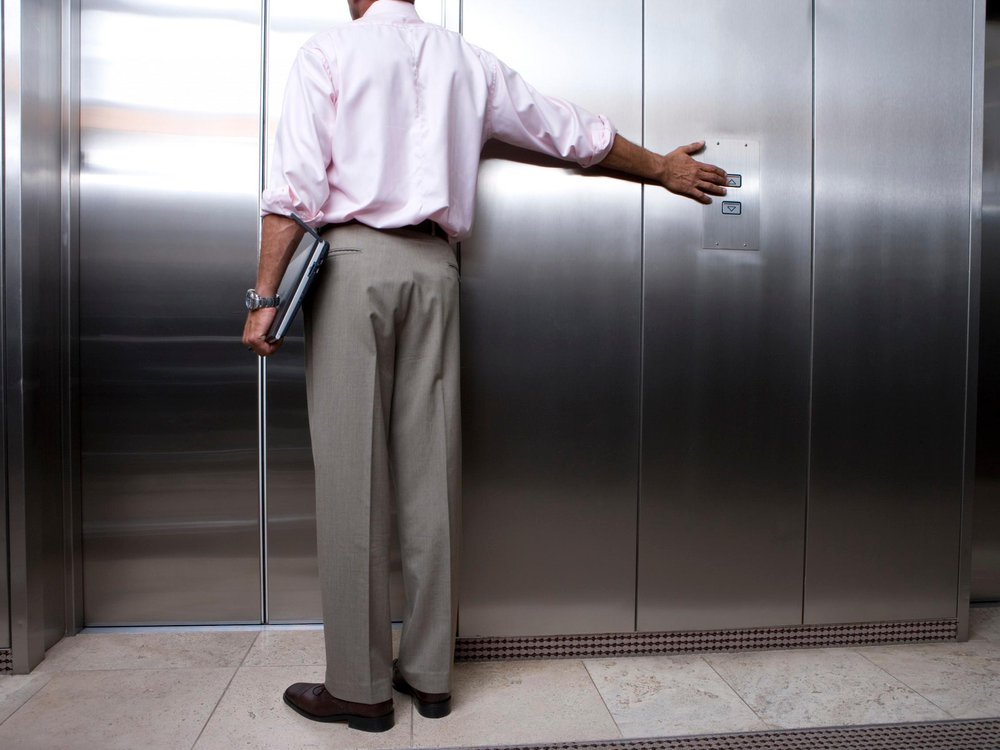 Man Waiting for Elevator