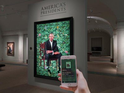 The Smithsonian's National Portrait Gallery offers a free audio tour of its presidential portraits.